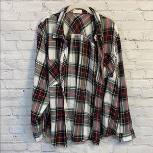 Maurices | Plus Size Plaid Buttondown Shirt | 3x